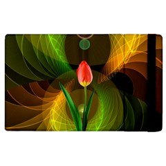 Tulip Flower Background Nebulous Apple Ipad 3/4 Flip Case by Nexatart