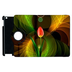 Tulip Flower Background Nebulous Apple Ipad 2 Flip 360 Case by Nexatart