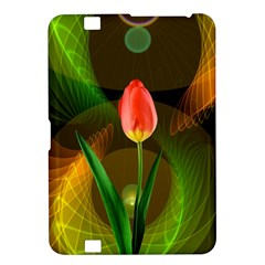 Tulip Flower Background Nebulous Kindle Fire Hd 8 9  by Nexatart