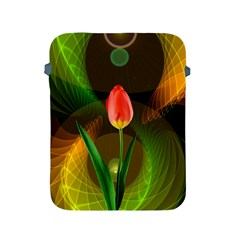 Tulip Flower Background Nebulous Apple Ipad 2/3/4 Protective Soft Cases by Nexatart