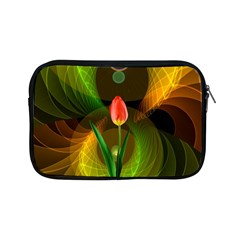 Tulip Flower Background Nebulous Apple Ipad Mini Zipper Cases by Nexatart