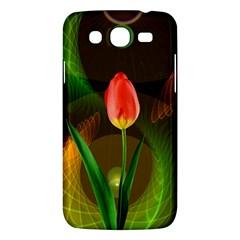 Tulip Flower Background Nebulous Samsung Galaxy Mega 5 8 I9152 Hardshell Case  by Nexatart