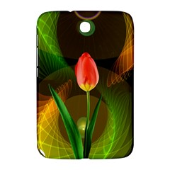 Tulip Flower Background Nebulous Samsung Galaxy Note 8 0 N5100 Hardshell Case