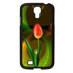 Tulip Flower Background Nebulous Samsung Galaxy S4 I9500/ I9505 Case (black) by Nexatart