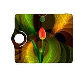 Tulip Flower Background Nebulous Kindle Fire Hdx 8 9  Flip 360 Case by Nexatart