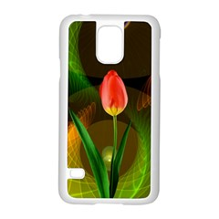 Tulip Flower Background Nebulous Samsung Galaxy S5 Case (white)