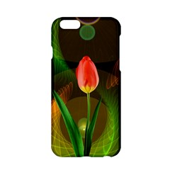 Tulip Flower Background Nebulous Apple Iphone 6/6s Hardshell Case by Nexatart