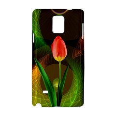 Tulip Flower Background Nebulous Samsung Galaxy Note 4 Hardshell Case