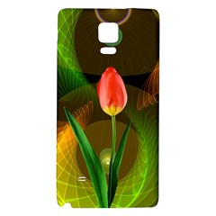 Tulip Flower Background Nebulous Galaxy Note 4 Back Case