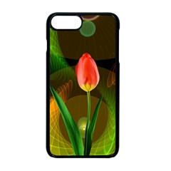 Tulip Flower Background Nebulous Apple Iphone 7 Plus Seamless Case (black)