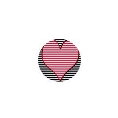 Heart Stripes Symbol Striped 1  Mini Buttons by Nexatart