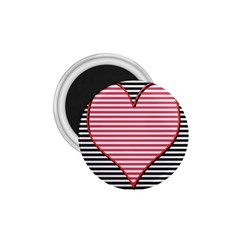 Heart Stripes Symbol Striped 1 75  Magnets by Nexatart