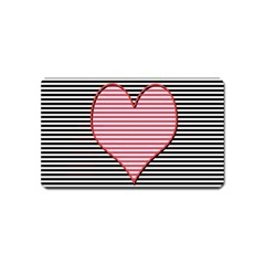 Heart Stripes Symbol Striped Magnet (name Card) by Nexatart