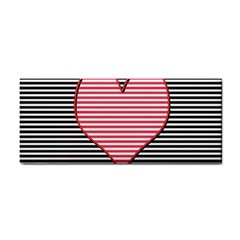 Heart Stripes Symbol Striped Cosmetic Storage Cases by Nexatart