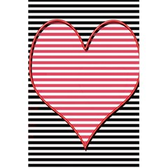 Heart Stripes Symbol Striped 5 5  X 8 5  Notebooks by Nexatart
