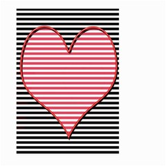 Heart Stripes Symbol Striped Large Garden Flag (two Sides)