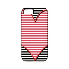 Heart Stripes Symbol Striped Apple Iphone 5 Classic Hardshell Case (pc+silicone) by Nexatart