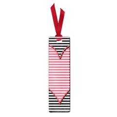 Heart Stripes Symbol Striped Small Book Marks by Nexatart