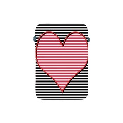 Heart Stripes Symbol Striped Apple Ipad Mini Protective Soft Cases by Nexatart