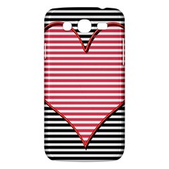 Heart Stripes Symbol Striped Samsung Galaxy Mega 5 8 I9152 Hardshell Case
