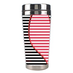 Heart Stripes Symbol Striped Stainless Steel Travel Tumblers