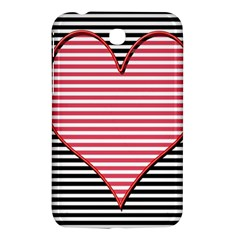 Heart Stripes Symbol Striped Samsung Galaxy Tab 3 (7 ) P3200 Hardshell Case  by Nexatart