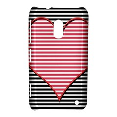 Heart Stripes Symbol Striped Nokia Lumia 620 by Nexatart