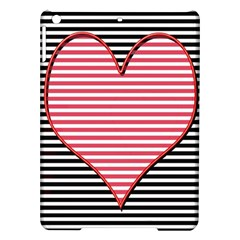 Heart Stripes Symbol Striped Ipad Air Hardshell Cases by Nexatart