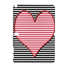 Heart Stripes Symbol Striped Galaxy Note 1