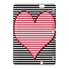 Heart Stripes Symbol Striped Kindle Fire Hdx 8 9  Hardshell Case by Nexatart