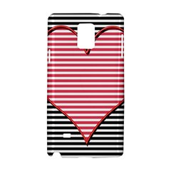 Heart Stripes Symbol Striped Samsung Galaxy Note 4 Hardshell Case