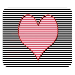Heart Stripes Symbol Striped Double Sided Flano Blanket (small)  by Nexatart