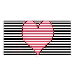 Heart Stripes Symbol Striped Satin Shawl