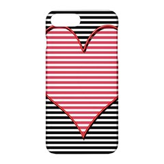 Heart Stripes Symbol Striped Apple Iphone 7 Plus Hardshell Case by Nexatart