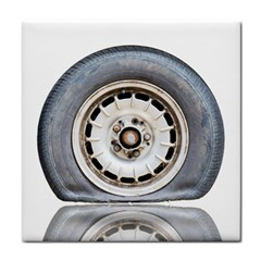 Flat Tire Vehicle Wear Street Tile Coasters
