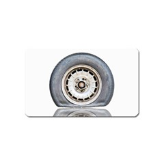Flat Tire Vehicle Wear Street Magnet (name Card) by Nexatart