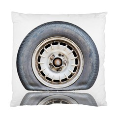 Flat Tire Vehicle Wear Street Standard Cushion Case (one Side) by Nexatart
