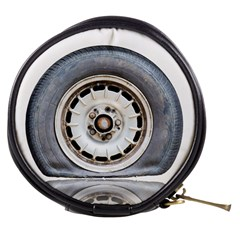 Flat Tire Vehicle Wear Street Mini Makeup Bags