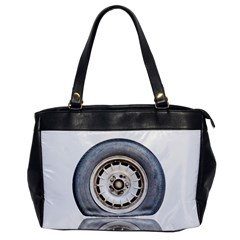 Flat Tire Vehicle Wear Street Office Handbags by Nexatart