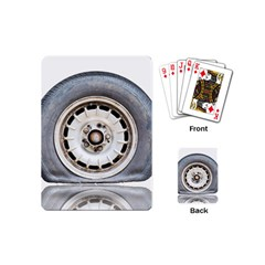 Flat Tire Vehicle Wear Street Playing Cards (mini)