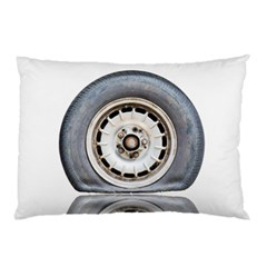 Flat Tire Vehicle Wear Street Pillow Case (two Sides) by Nexatart