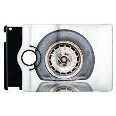 Flat Tire Vehicle Wear Street Apple Ipad 2 Flip 360 Case by Nexatart
