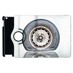 Flat Tire Vehicle Wear Street Apple Ipad 3/4 Flip 360 Case by Nexatart