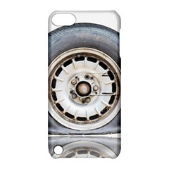 Flat Tire Vehicle Wear Street Apple Ipod Touch 5 Hardshell Case With Stand