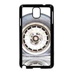 Flat Tire Vehicle Wear Street Samsung Galaxy Note 3 Neo Hardshell Case (black) by Nexatart