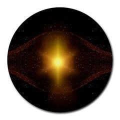 Background Christmas Star Advent Round Mousepads by Nexatart