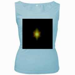 Background Christmas Star Advent Women s Baby Blue Tank Top