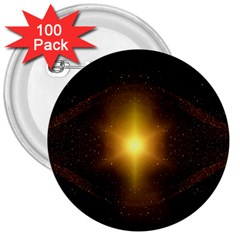 Background Christmas Star Advent 3  Buttons (100 Pack)