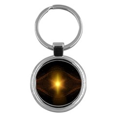 Background Christmas Star Advent Key Chains (round)