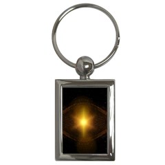 Background Christmas Star Advent Key Chains (rectangle)  by Nexatart